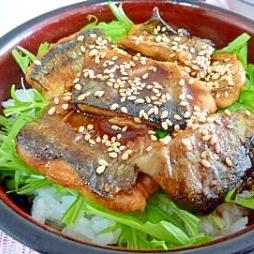 経済的な秋刀魚の蒲焼丼