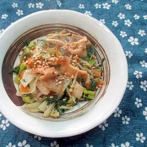 【中華ごま】野菜の皮と鶏皮の炒め物