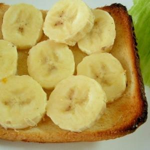 ☆バナナトーストのミルクオリゴ糖かけ☆