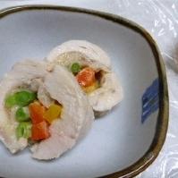 鶏肉の野菜ロール蒸し