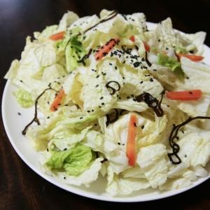 白菜の塩昆布サラダ