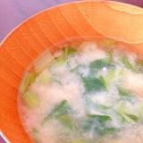 小松菜とえのき茸の味噌汁
