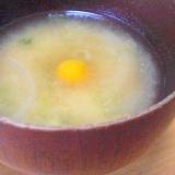 ❤簡単味噌汁! 玉ねぎ&ネギ味噌汁鶉卵落とし ❤