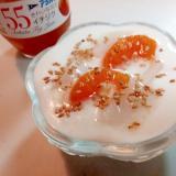 美的 杏仁豆腐とみかんのイチジクジャムヨーグルト