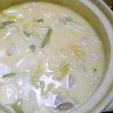 体が温まる☆生姜入り白味噌鍋
