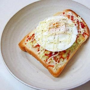 *キャベチーズのエッグトースト*