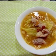 豚肉と白菜のピリ辛みそスープ