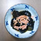茄子の煮物と焼き鮭