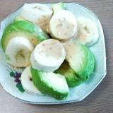 バナナとアボカドのごまドレサラダ