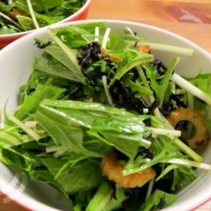 水菜とひじきのサラダ