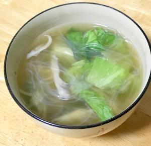 時短レタスな春雨スープ♪(大根おろし汁も加えて)