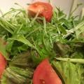 水菜とトマトのマヨポンサラダ