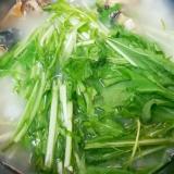 つぶ貝とシャキシャキ水菜の雑炊