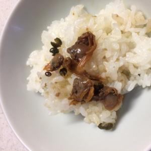 煮アサリまぜご飯