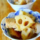レンコンと味噌漬け豚の煮込み