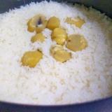 栗の甘露煮で炊き込みご飯