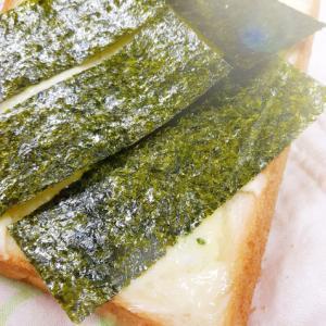 食パンアレンジ(^^)マヨネーズバター&味海苔♪