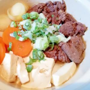 ヘルシーな、牛肉のあっさり肉豆腐