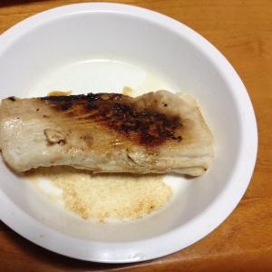 カジキマグロのあらの味噌焼き