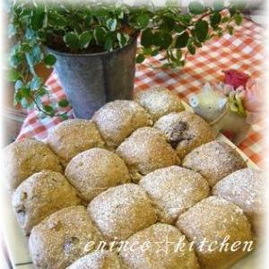 ミロで作る☆くるみとチョコのちぎりパン♪