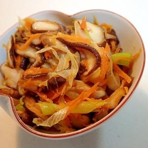 生椎茸と白葱と人参の甘辛炒め♬