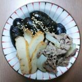 茄子とさつま揚げと牛肉の煮物