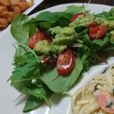 鉄分たっぷり‼サラダほうれん草とアボカドサラダ♪
