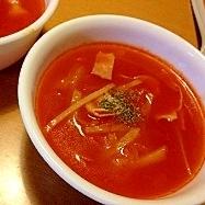 あっさり・シンプル味のトマトスープ