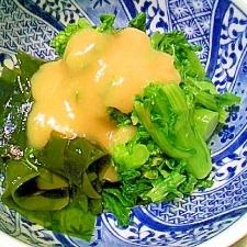 ほんのり苦味の菜の花 酢味噌がけ