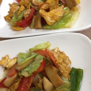 野菜と卵の炒め物(^^)
