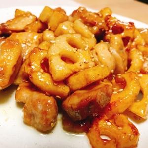 レンコンと鶏肉の甘辛炒め