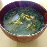アカモク(ギバサ)の味噌汁