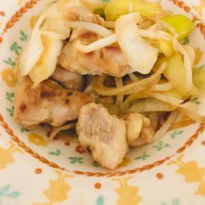 ねぎ鶏モモ肉の甘辛炒め