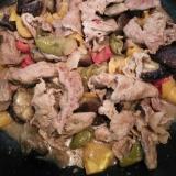 豚肉とナスとパプリカのみそ炒め