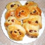 カリフォルニアレーズン渦巻きパン