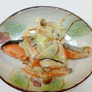 ☆鮭のバターソテー~ホワイトソース添え~☆