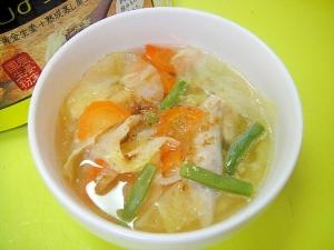 手羽先の先端入り☆キャベツとインゲン人参のスープ レシピ・作り方