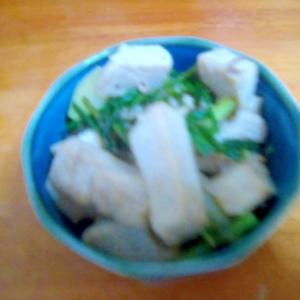 鶏ハムとエシャロットの醤油炒め