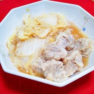 白菜とシュウマイの蒸し煮(中華味)