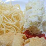 ハムチーズのイタリアンカツレツをトマトソースで