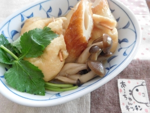 茶巾餅麺つゆ煮