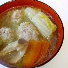 肉団子入り春雨スープ
