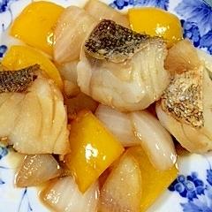 真鱈とパプリカの甘酢炒め