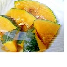 電子レンジで簡単☆麺つゆつかった!かぼちゃの煮物