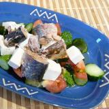 鯖缶と豆腐サラダ