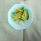 千切りきゅうりと柚子のらっきょう酢和え