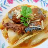 サバ味噌煮缶と白菜の簡単煮物