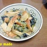 小松菜と竹輪のおろし煮