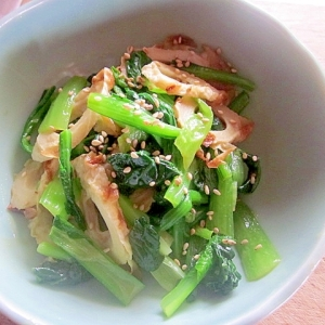 箸休めに~小松菜とちくわのからし和え