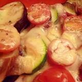 ヨーグルトマヨネーズソースで野菜のチーズ焼き